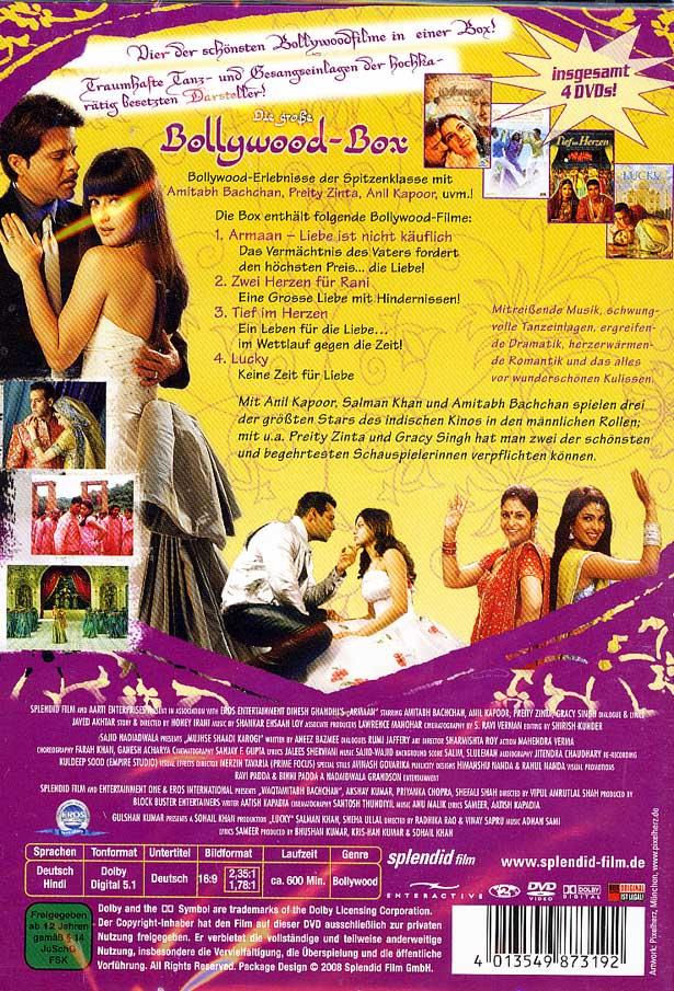 Die große Bollywood-Box (4 DVDs) Armaan , Lucky
