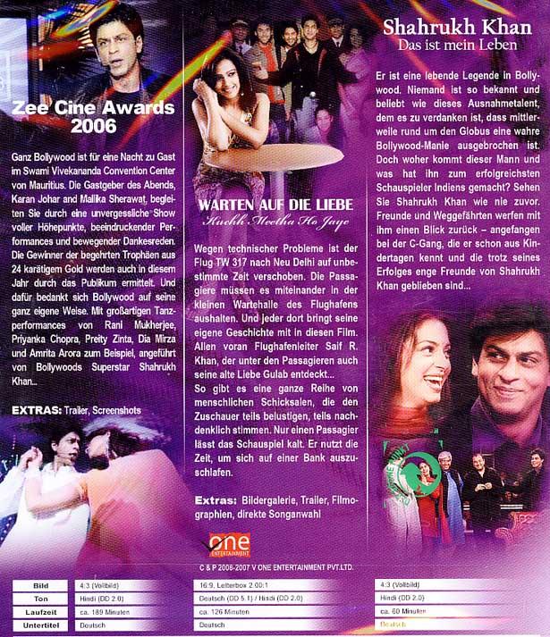 Bollywood DVD-Box Vol. 2 ( 3 DVDs ) Shahrukh Khan