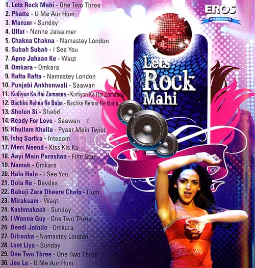 Let's Rock Mahi - Song DVD mit Hologram (EROS) 30 Songs