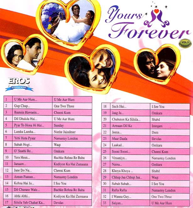Yours Forever (Vol.2) - Song DVD mit Hologram (EROS) 33 Songs