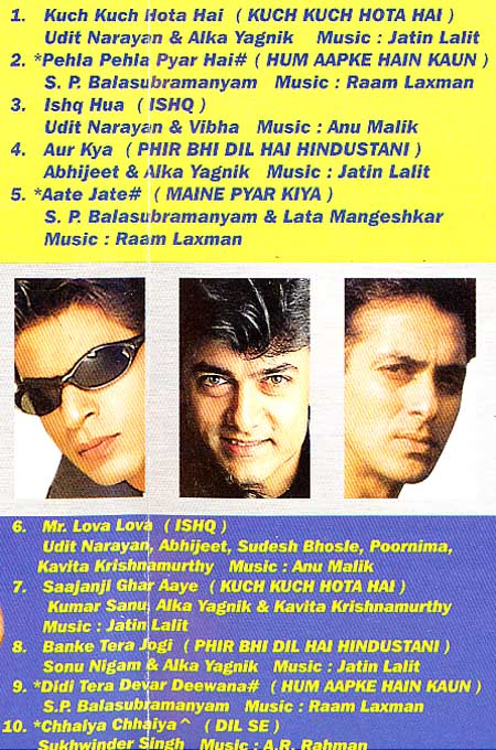 King Khans - CD / Shahrukh , Aamir, Salman / 10 Tracks