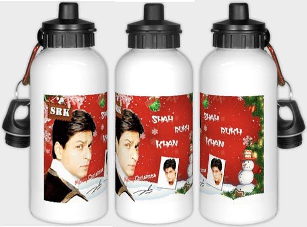 Alu Trinkflasche mit Shahrukh Khan Motiv