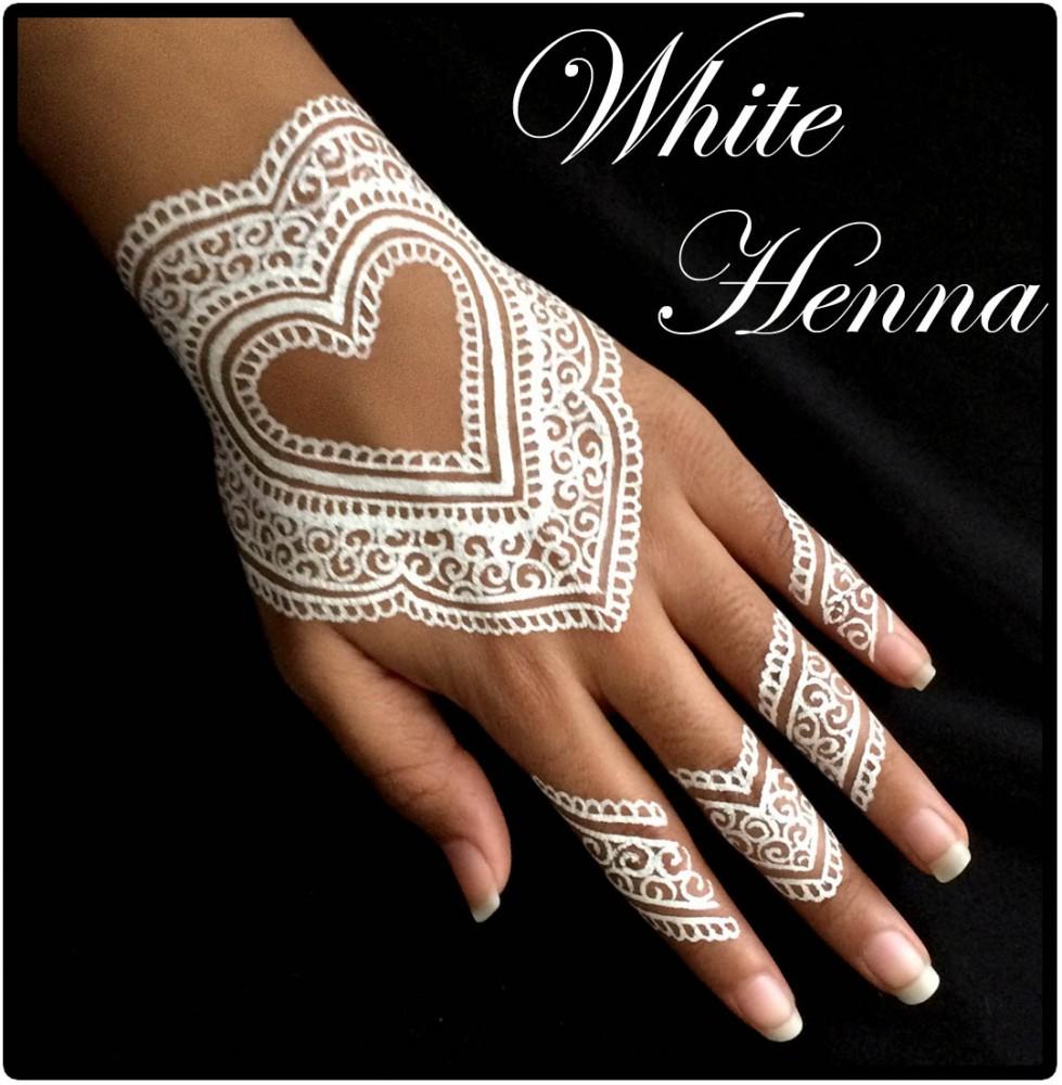 5x Golecha White Henna Paste Cones Weisse Kegel Paste No Ppd No
