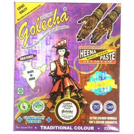 Golecha Special Magic Henna Cones - Clinically tested, No PPD (Violet)