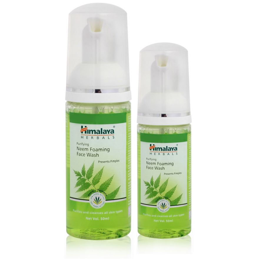 Himalaya Herbals Purifying Neem Foaming Face Wash (prevents Pimples with Extracts of Neem & Turmeric) 150ml