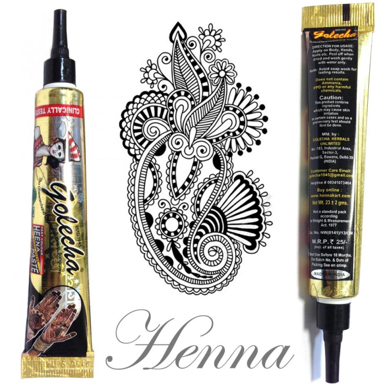 Golecha Henna Tube Black Clinically Tested