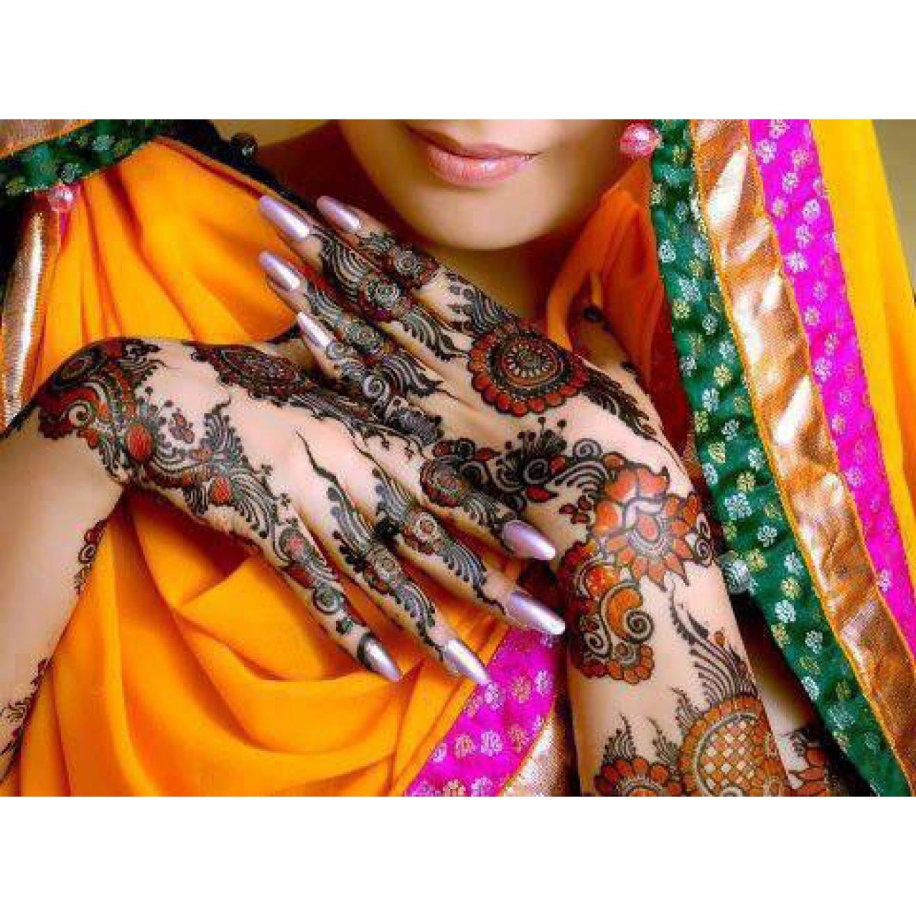 6x Golecha Multi Color Henna Cones