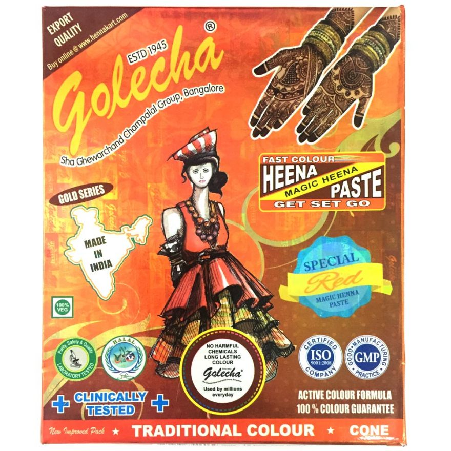 Golecha Special Magic Henna Paste - Rot (Ohne Chemie) 25g