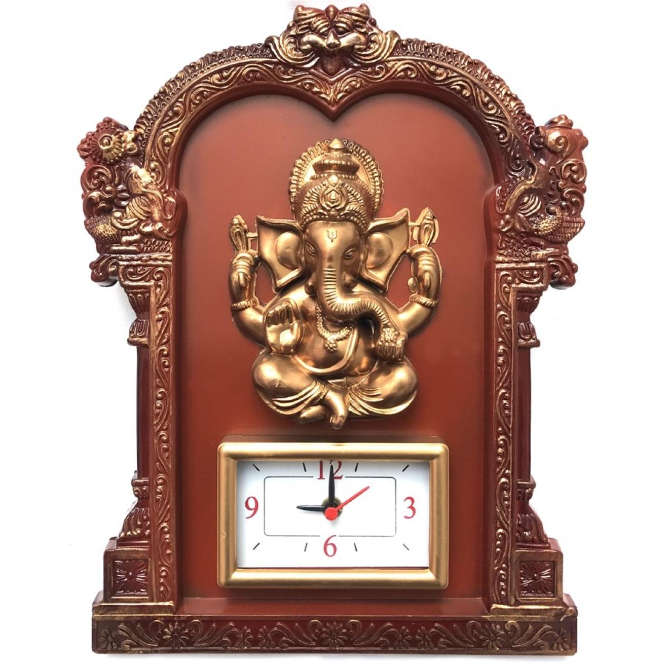 Ganesha aufh ngebild mit uhr for Indische wanddeko