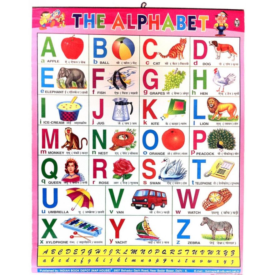 Large Alphabet-Poster (English/Hindi; 70 x 55cm) for the ...