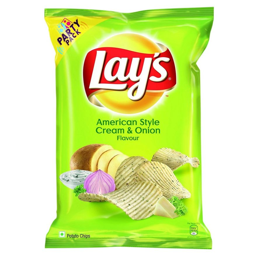 Lay's American Style Cream & Onion Flavour Chips (52g)