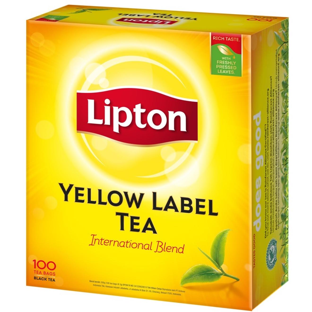 Lipton Yellow Label Tea Bags (Schwarzer Tee) 100 Beutel