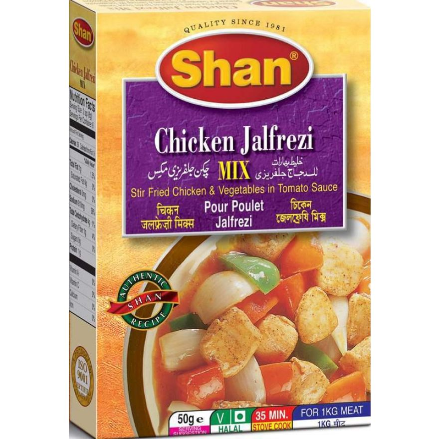 Shan Chicken Jalfrezi Spice Mix For Chicken Vegetables In Tomato Sauce