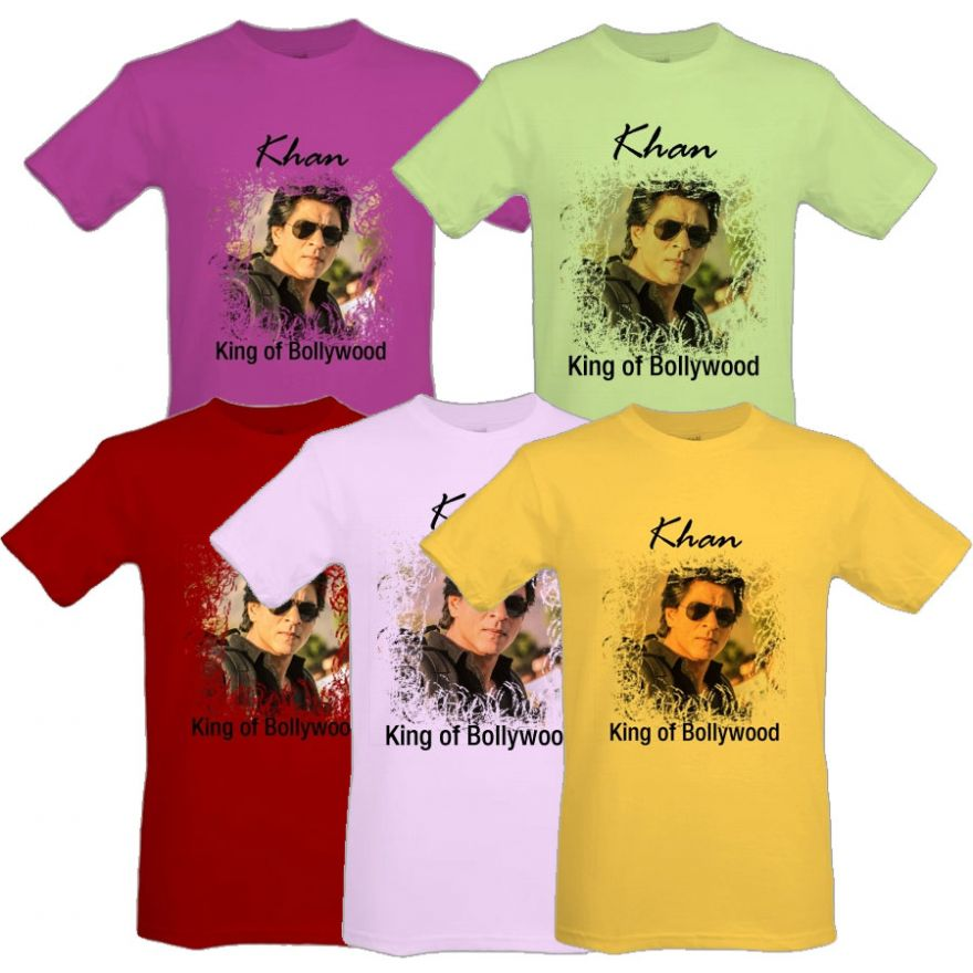 shahrukh khan t shirt 100 cotton 17 colors 5 sizes