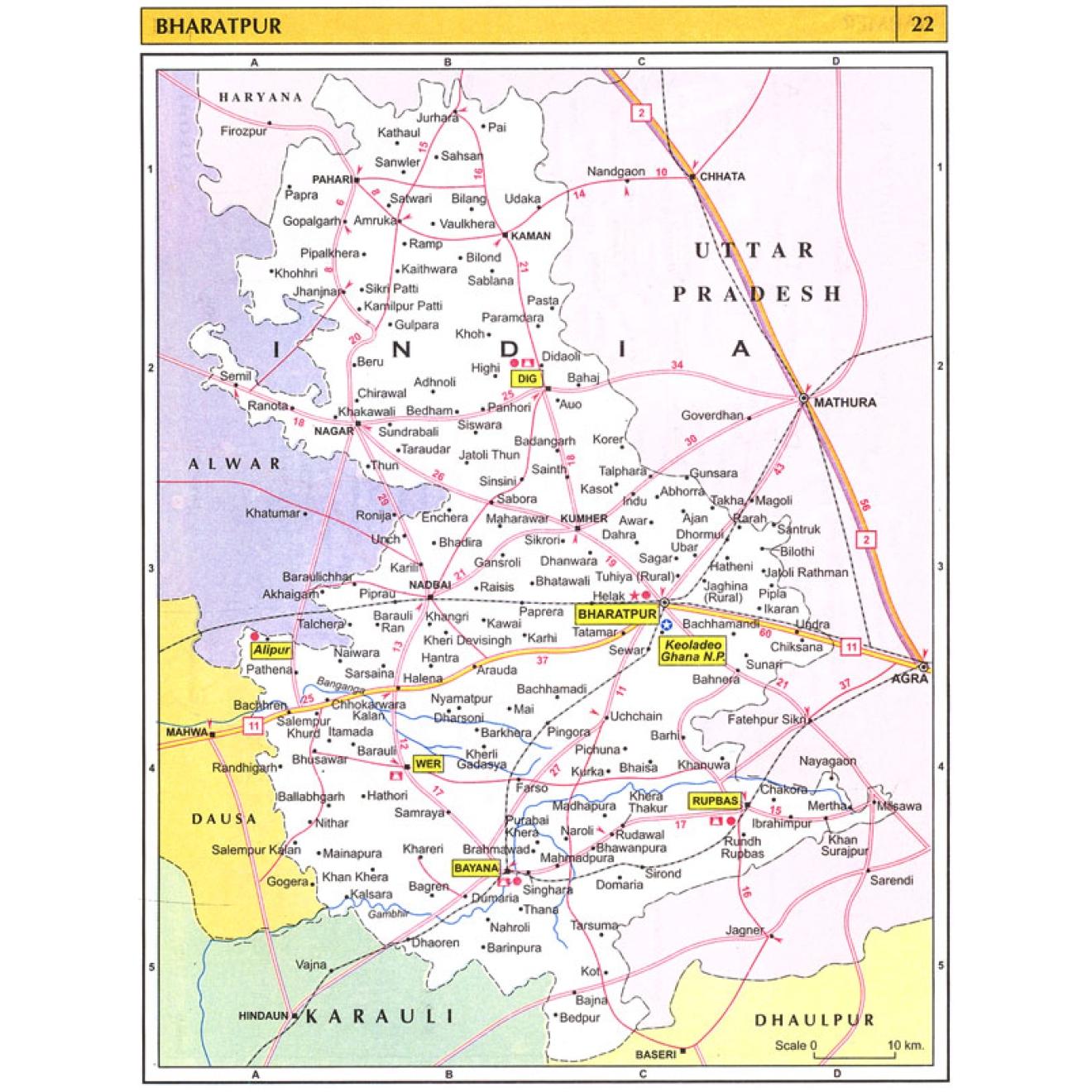 Rajasthan Tourist Road Atlas, Rajasthan routes, Rajasthan routen ...