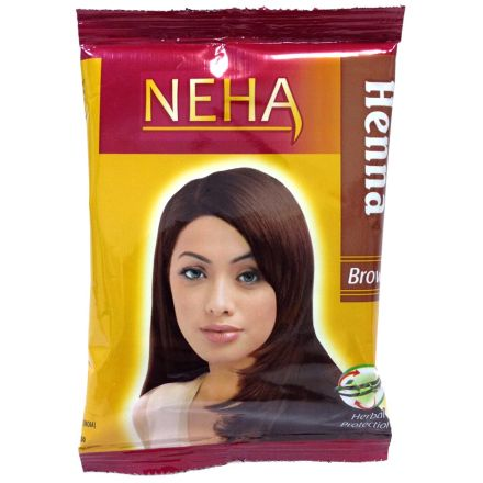 5x Neha Herbal Henna Hair Powder - Haarfärbemittel (Braun) 100g