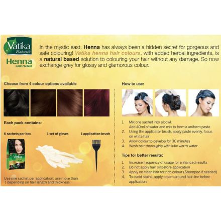 Vatika Henna Hair Colour Dark Brown With Natural Extracts
