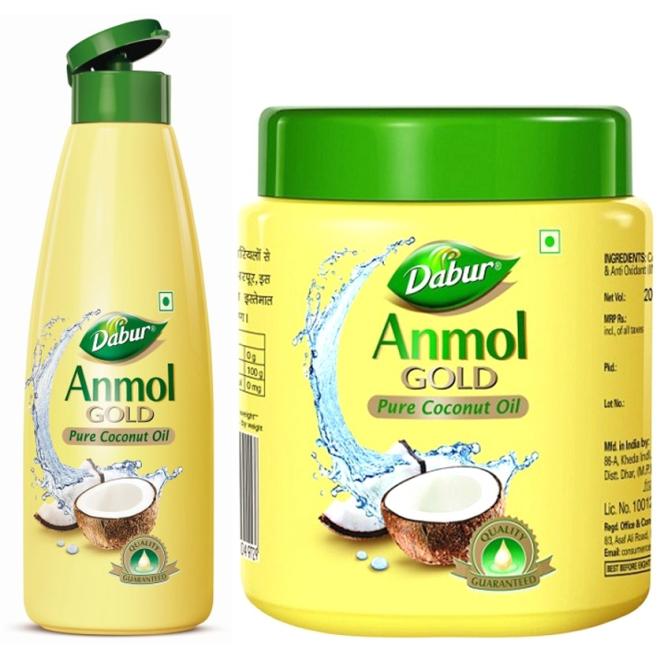 Dabur Anmol Gold Pure Coconut Oil For Hair Body Amp Massage