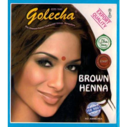 Golecha Natural Henna Hair Color - Dark Brown (5x10g)