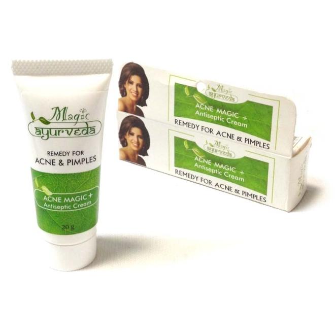 magic ayurveda acne magic antiseptic cream antiseptische. Black Bedroom Furniture Sets. Home Design Ideas