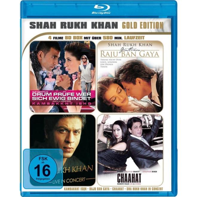Shah Rukh Khan Gold Edition Bluray 4 Filme Mit Shahrukh Khan