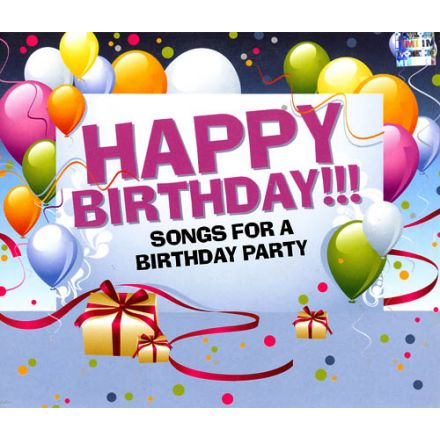 Happy Birthday!!! Songs for a Birthday Party - Language: English - For  Children