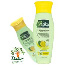 Dabur Vatika Naturals Refreshing Lemon Anti-Dandruff-Shampoo (Lemon, Yoghurt, Tea Tree Oil, Mint) 200ml