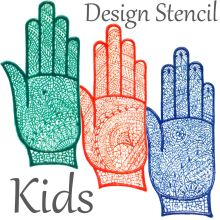 Kids Henna Stencil (HAND) Self-adhesive & Reusable