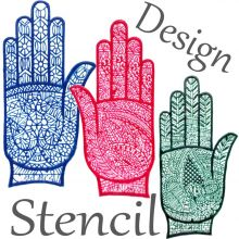 Adult Henna Stencil (HAND) Self-adhesive & Reusable
