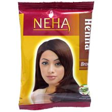 Neha Herbal Henna Powder - For Hair Dyeing (Brown) 20g