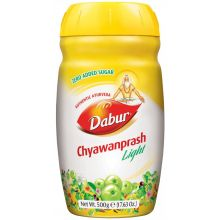 Dabur Chyawanprash Light with 90% less Sugar (Authentic Ayurveda Supplement) 500g