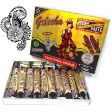 Golecha Henna Paste - Tubes (Black) No PPD, Clinically tested