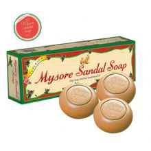 3x150g Mysore Sandal Soap (with Extract of Sandalwood Oil) 450g