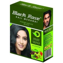 Black Rose Kali Mehandi (Black Hair Dye Henna Powder) 50g