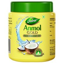 Dabur Anmol GOLD Pure Coconut Oil (for Hair, Body & Massage) Yellow Packing