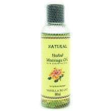 Natural Herbal Massage Oil (Vanilla Beans) 100ml