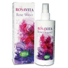 Rosavita Rose Water, Facial Cleansing, 100% natural & vegan - without added alcohol (300 ml)