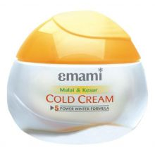 Emami Malai-Kesar Cold Cream with Fairness Power (Hautcreme für vollen Winterschutz mit Safran, Rahm & Aloe Vera, Hautaufhellung)