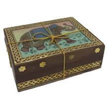 Elegant Wooden Glas Gift Box with Assam Tea