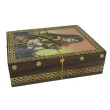 Elegant Wooden Glas Gift Box with Masala Chai