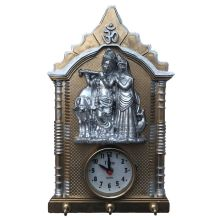 Radha Krishna hanging picture with clock (33x20x5cm)