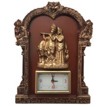 Radha Krishna hanging picture with clock (34x26-5cm)
