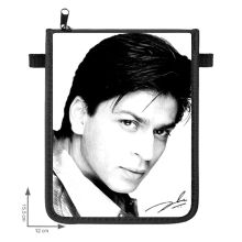 Shahrukh Khan pouche with adjustable neck strap & zipper , high quality
