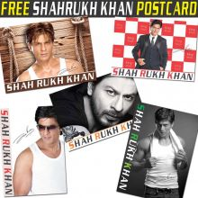 Free Item - 1x Shahrukh Khan Postcard with Autograph