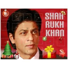 Shahrukh Khan - Advent Calendar with 24 individually wrapped chocolate treats (High Quality)