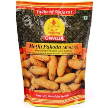 Gwalia Snacks - Methi Pakoda, Muthia (Fenugreek Leaves Dumplings) 200g