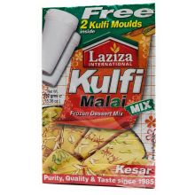 Laziza Kulfi Malai Mix - Kesar Safran, with 2x Kulfi Moulds (152g)