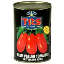 TRS Plum Peeled Tomatoes in Tomato Juice (geschälte Tomaten in Tomatensaft) 400g