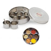 Masala Dabba - Seasoning Container - Stainless Steel