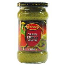Schani Green Chilli Minced Paste (Grüne Chilli Würzpaste) 240 ml